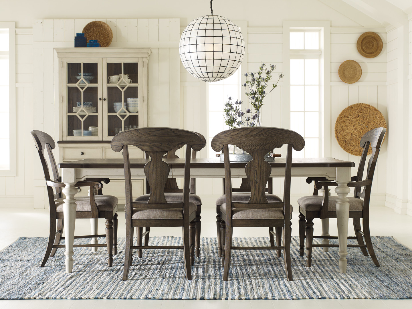 Dining Table with Splat Back Chairs
