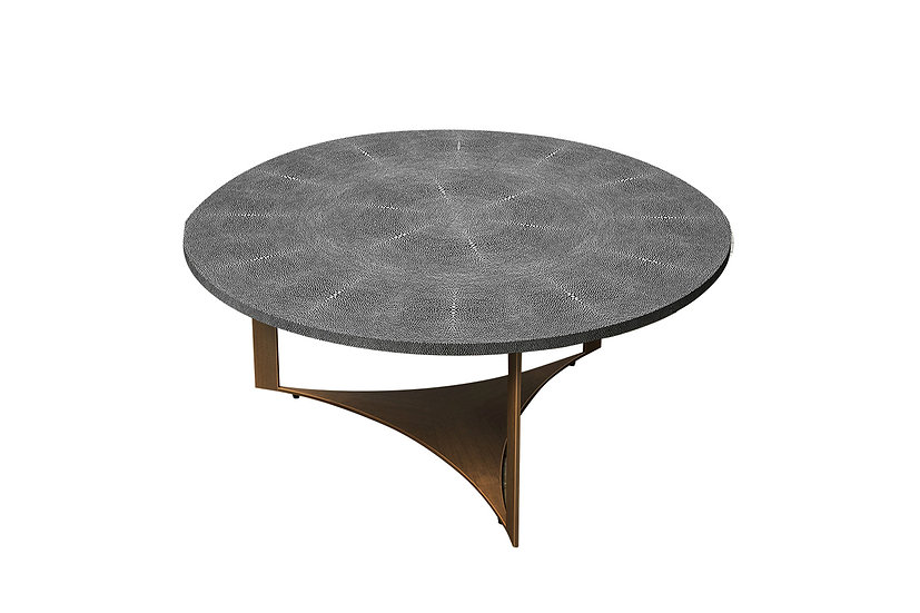 Ambient Shagreen - Round Coffee Table