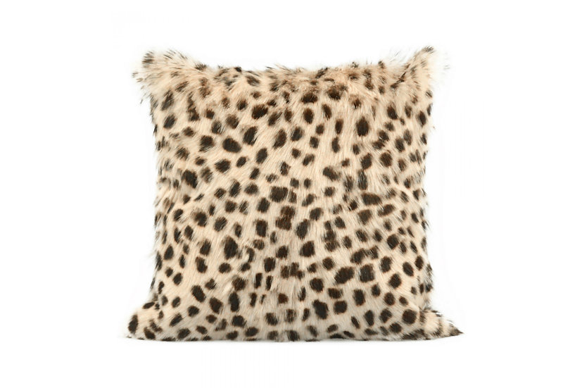 Spotted Tan - Goat Fur Pillow