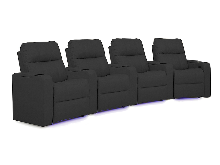 Soundtrack - 4 Seat Curved Home Theatre Seating