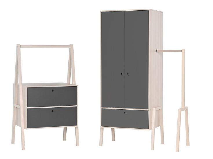 Spot - 2 Door Wardrobe and Chest of Drawers