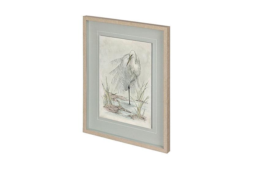White Egret - Wall Art
