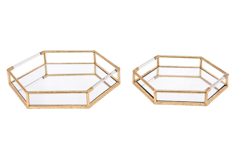 Hex - Set of 2 Trays