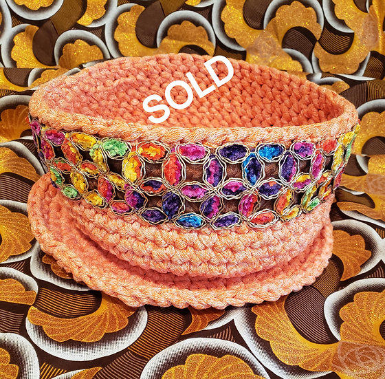 Crocheted Bowl and Plate