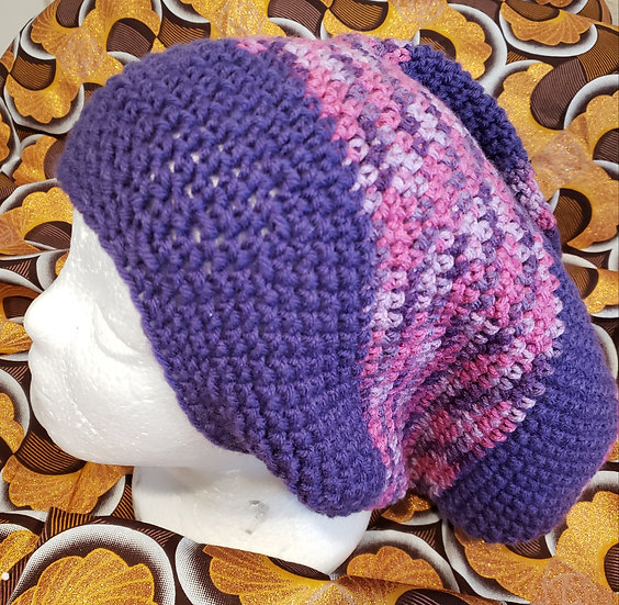 Purple and Pink Hat