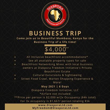 Mombasa Business Trip