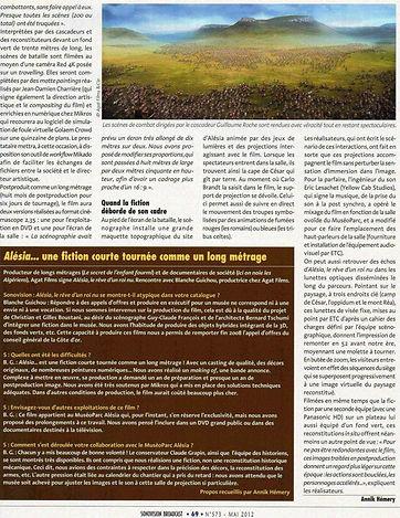 GRCF Les Animaux des R, Guillaume Roche, Interview, La presse en parle, Alésia, Le rêve d'un roi nu