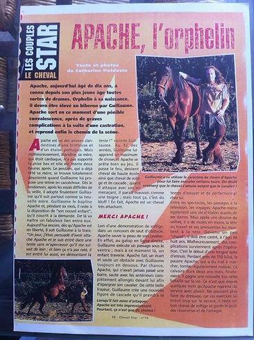 GRCF Les Animaux des R, Guillaume Roche, Interview, La presse en parle, Apache, l'orphelin
