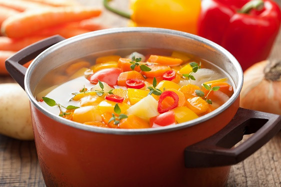 Ayurveda Gemüsesuppe Abendessen