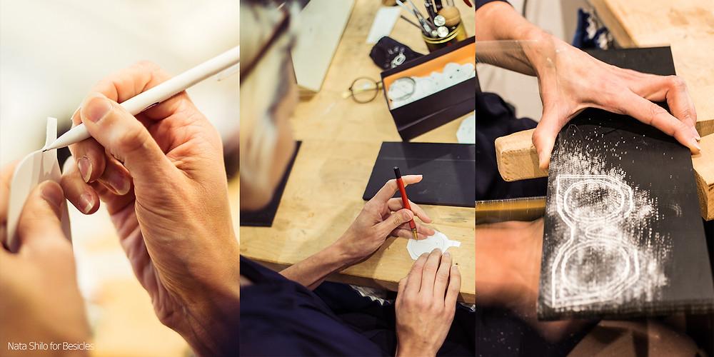création de lunettes faites à la main chez Besicles opticien créateur à Orléans