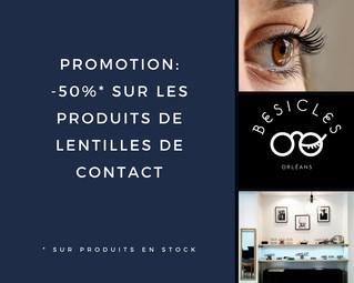 -50% sur les solutions de nettoyage pour les lentilles de contact