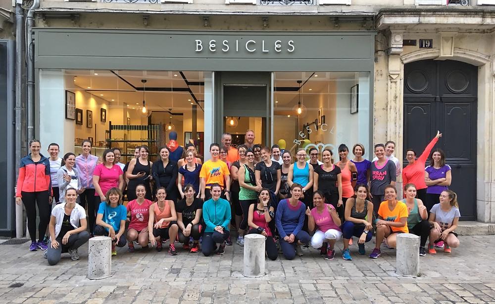 girls run et fun&yoga chez Besicles opticien Orléans