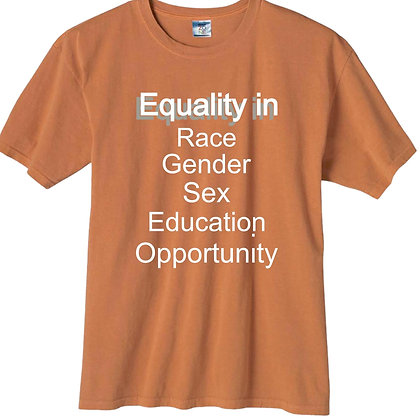 White Equality T-shirt (more colors available)