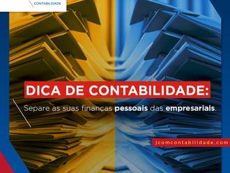Separe as suas finanças pessoais das empresarias