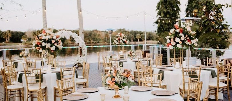 Deck Wedding Reception