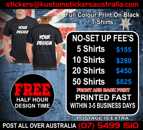20 T ShirtsFront Back Print