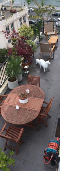 Une terrasse paysagée