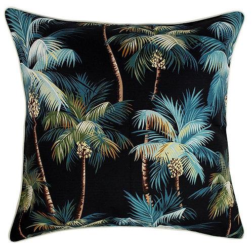 Cushion Cover - Palm Trees Black - 60cm X 60cm