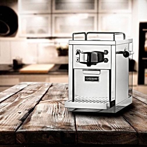 Retro espresso capsule machine