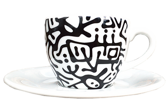 Limited edition, The Arise, cup & saucer, porcelain, coffee cup, coffe & art, Hug-A-Licious