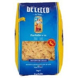 Pasta farfalle De Cecco 1 kg +1 spaghetti 500gr