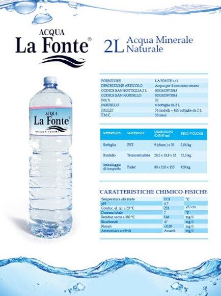"""Acqua naturate """"La Fonte"""" 2 lt x6"""
