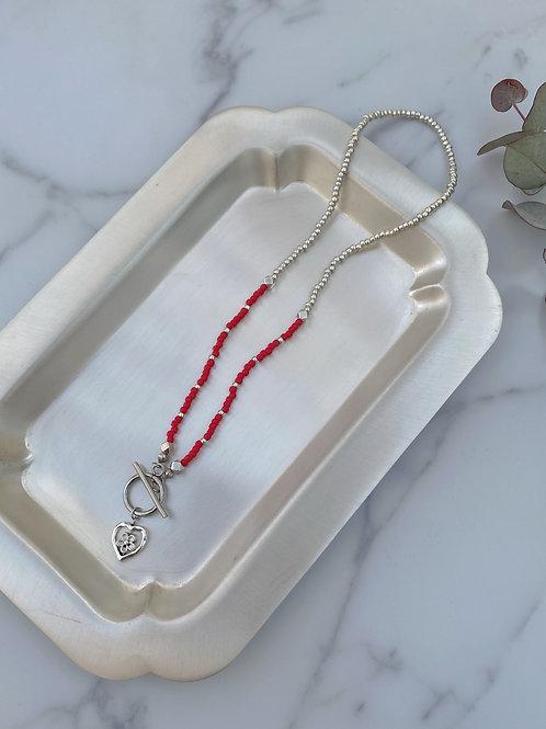 NO.6 Heart flower NC (Choker necklace)