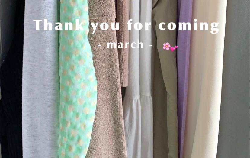 【3月お客様SNAP】Thank you for coming!!💞