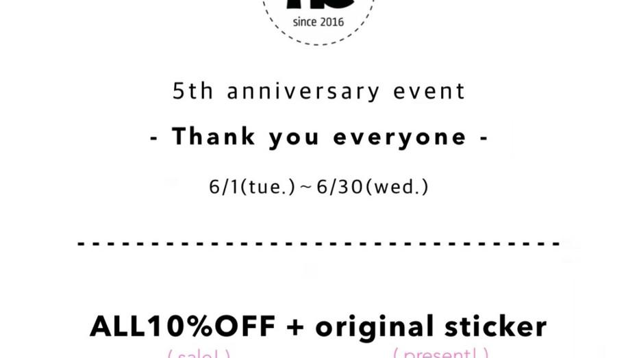 5th anniversary event 開催中🎉&新作大量入荷📦💕