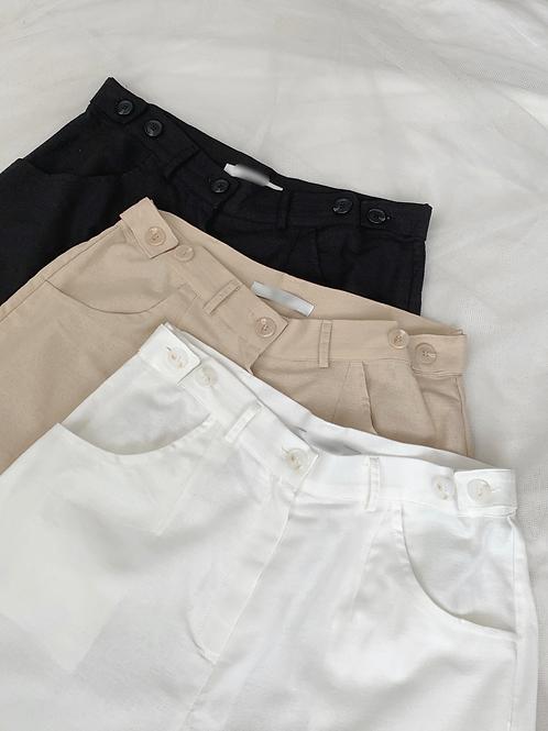 Linen half pants