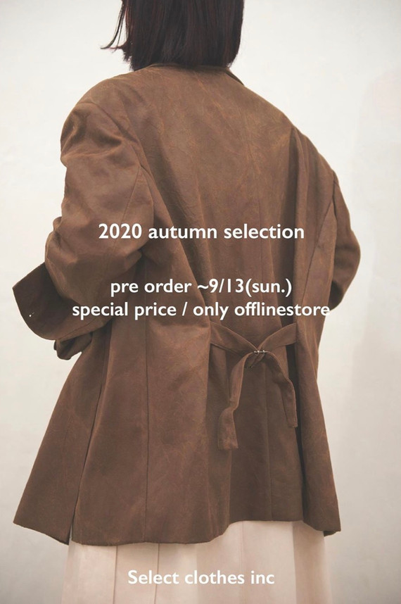 【2020 Autumn selection / pre order 】先行予約会🍂❤️