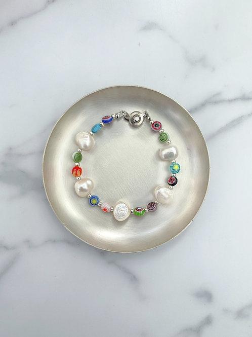 NO.5 Perl millefiori (bracelet)