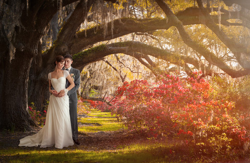 Свадебная постановочная фотосъемка