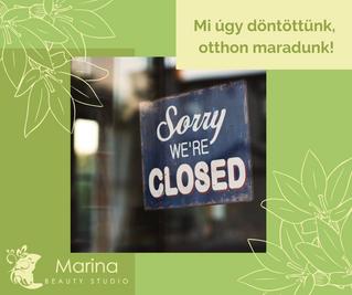 #maradjotthon - bezártunk mi is