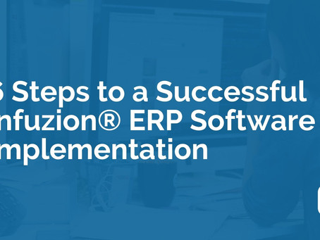 6 Steps to a Successful Infuzion® ERP Software Implementation