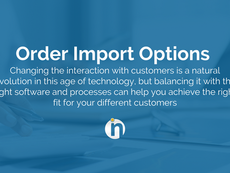 Order Import Options