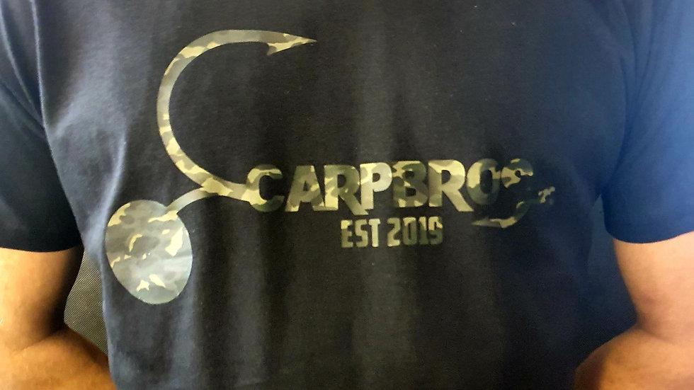2021 CARPBROS BLACK/OLIVE CAMO PRINT T-SHIRT