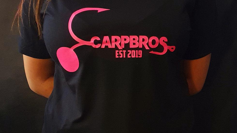 CARPBROS UNISEX BLACK/PINK T-SHIRT