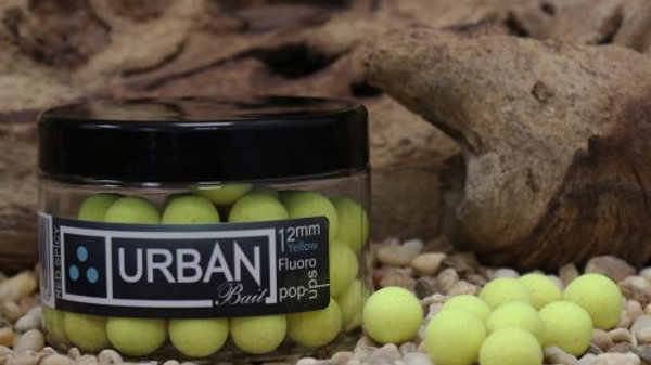 URBAN BAIT Red Spicy Fish Fluoro Yellow Pop Ups