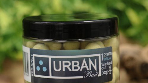 URBAN BAIT Red Spicy Fish Washed Out Yellow Pop Ups