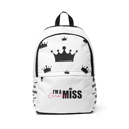I'm A Christian Miss Unisex Fabric Backpack