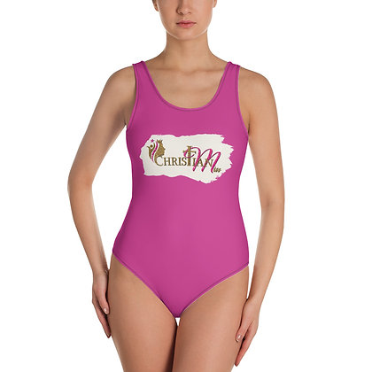 Adult Christian Miss Logo One-Piece Swimsuit