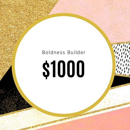 Boldness Builder Sponsorship