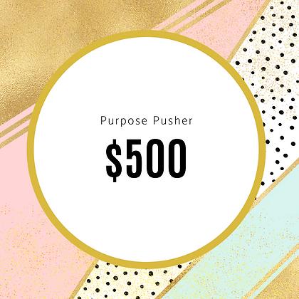 Purpose Pusher Sponsorship