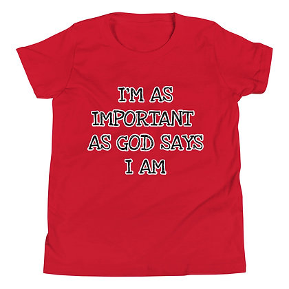 I'M IMPORTANT Youth Short Sleeve T-Shirt