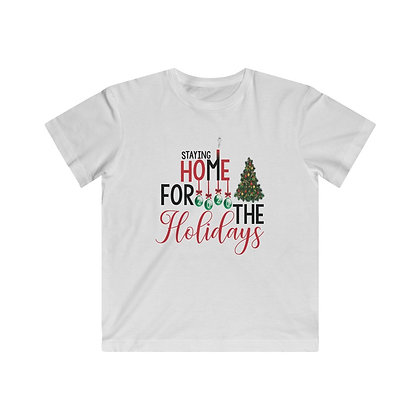 Staying Home for the Holidays Kids Fine Jersey Tee