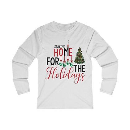 Home for the Holidays Long Sleeve Tee Pajama Shirt