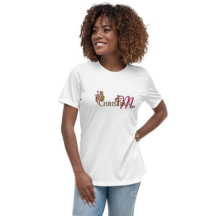 Christian Miss Pink/Gold Women's Relaxed T-Shirt (Adult)