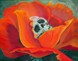 poppy human skull