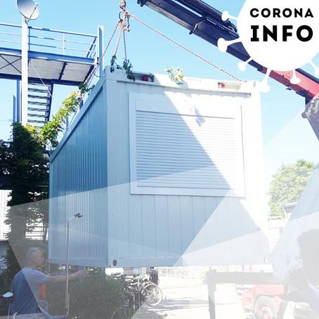 Corona-Testzentrum vor Ort